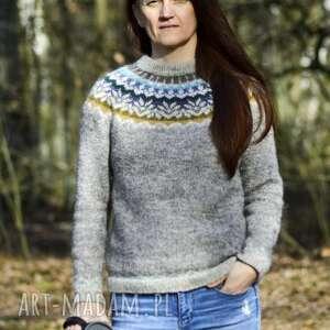 swetry sweter outodoor z islandzkiej wełny 100 lopapeysa dla miłośników