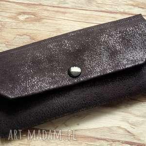 portfele portfelik z ekozamszu, portmonetka, nubuk, antyczna, elegancka, prezent