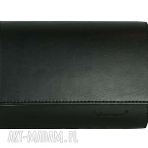 Kopertówka koperta MANZANA czarna klasyczna, koperta, kopertówka, kopertówki, torebka