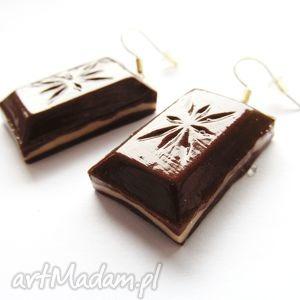 KOLCZYKI smakowite czekoladki, kolczyki, modelinam, masa, fimo