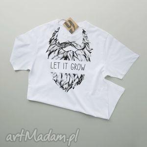 hand made koszulki let it grow koszulka dla brodacza