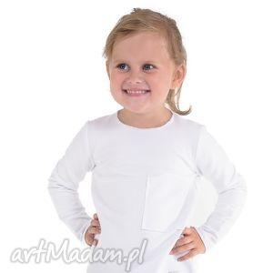 biała bluzeczka z kieszonką, bawełna, jesień, biała, bluzka