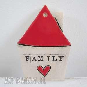 mały domek zawieszka - ,family,ceramiczny,domek,prezent,parapetówka,rodzina,