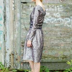 non tess elegancka żakardowa sukienka s, wesele, dopasowana, chrzciny, impreza