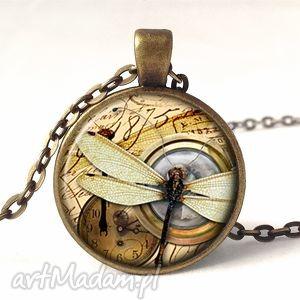 ważka z kompasem - medalion z łańcuszkiem egginegg - naszyjnik