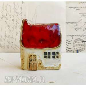 handmade ceramika domek z czerwonej zagrody