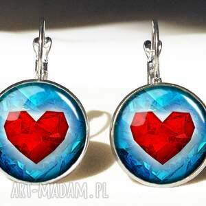 serca - duże kolczyki wiszące, kolczyki, serca, walentynkowe, zelda