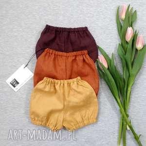 mamafaktura szorty lniane - krótkie spodenki, ubranka