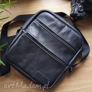 męska torba ze skóry naturalnej klasyczny model idealna na prezent, męska
