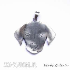 hand made wisiorki labrador - wisiorek srebrny