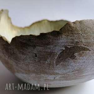 ceramika misa z ptakami, dekoracja wnętrza, ręcznie wykonana, rękodzieło