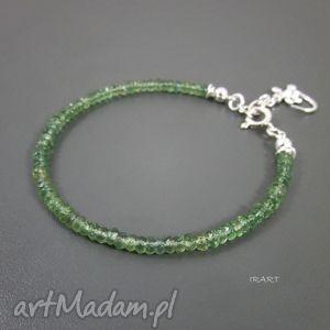 jaszczurka z zielonym apatytem, apatyt, srebro bransoletki biżuteria