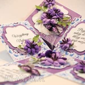 unikalny, scrapbooking kartki box z niespodzianką, box, kartka, życzenia