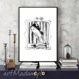 Barokowa Dama... ilustracja a4, format-a4, barok, kobieta