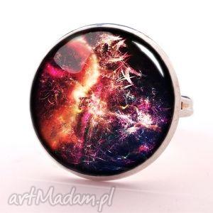 Nebula - Pierścionek regulowany - ,nebula,kosmos,pierścionek,regulowany,galaxy,prezent,