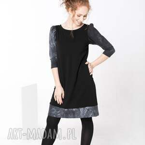 sukienki sukienka bawełniana z kieszeniami, sukienka, rękawy