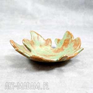 ceramika miseczka liść klonu, jesienny liść, miseczka, świecznik, fusetka