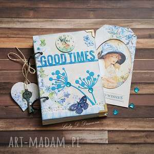 scrapbooking notesy stylowy notes/good times, notes, dama, serce, klucz, motyl