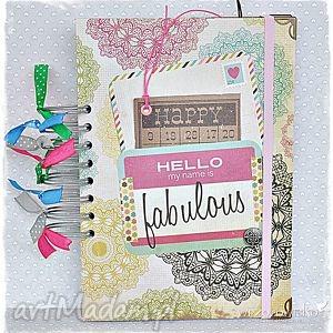 Prezent Notatnik/pamiętnik Fabulous, notes, notatnik, pamięnik, dziewczyna, motywacja