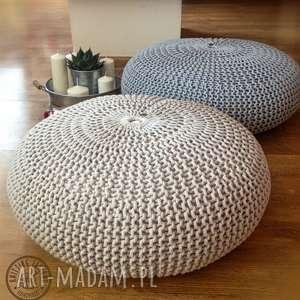 "Poducha, siedzisko, pufa ""lotos"" knitting factory puf, joga"