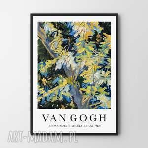 plakaty van gogh blossoming acacia branches - plakat 40x50 cm