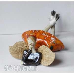 wylegarnia pomyslow anioł łyżwiarka, ceramika, anioł, łyżwy