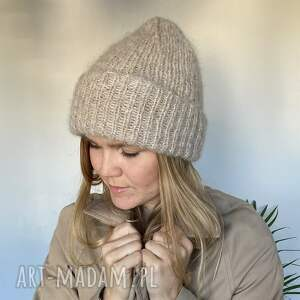 handmade czapki alpacasilk beanie