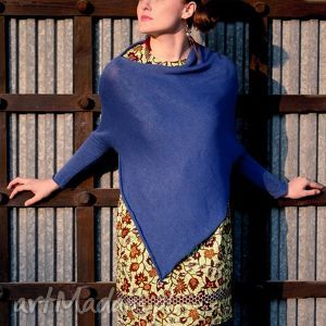 sweter-ponczo, sweter, poncho, wełna, art swetry