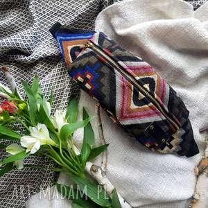kolorowa nerka saszetka w stylu boho indiańska, nerka, saszetka, bodrówka