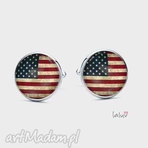 spinki do mankietów usa - flaga, ameryka, gwiazdy, prezent, mężczyzna, kraj