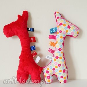 handmade zabawki żyrafka sensorek grzechotka - idealna dla niemowlaka!
