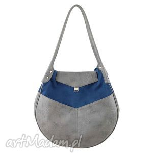 kaya - duża torba granat i szarość, duża, pakowna, elegancka, prezent, niebanalna