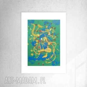 nowoczesna grafika do domu, ładna abstrakcja sypialni, oryginalny rysunek