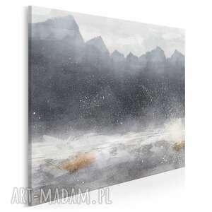 vaku dsgn obraz na płótnie - góry abstrakcja zima nowoczesny w kwadracie