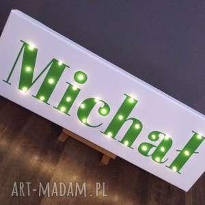 napis led twoje imię obraz personalizowany prezent urodzinowy dla chłopca - napis