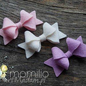 ozdoby do włosów butterfly bow spinki włosów, kokardki, filcowe, spinki