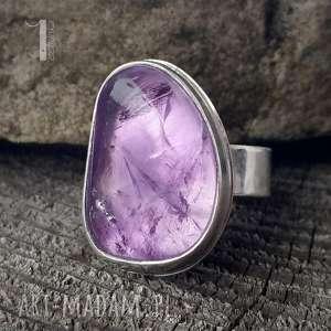 pierścionki kandela - srebrny pierścień z ametrynem, srebro, 925, ametryn