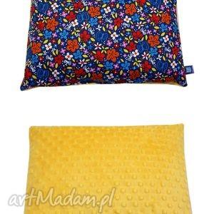 poduszka, wzór kwiaty, oryginalny polar minky, poducha, mango