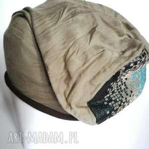 czapka dresowa smerfetka damska farbowana - czapka, długa, smerfetka, etno, damska