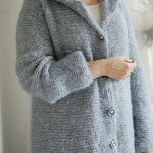 hand-made swetry kardigan z kapturem