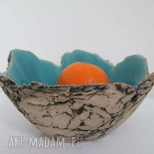 ceramika artystyczna miseczka, ceramiczna, miska, turkusowa, sardynia, jak-skała