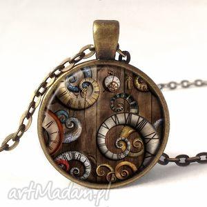 egginegg macki czasu - medalion z łańcuszkiem - beżowe, naszyjnik