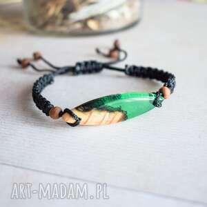 Sirius92! Mitali - bransoletka z drewnem i zieloną