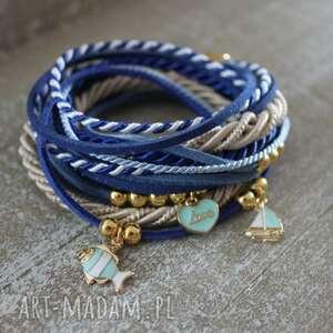 niebieska marynarska bransoletka żaglówka, niebieska, bransoletka, rybka