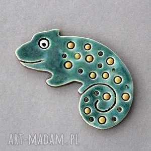 magnesy kameleon-magnes ceramiczny, minimalizm, prezent, kolekcjoner, ozdoba, lodówka