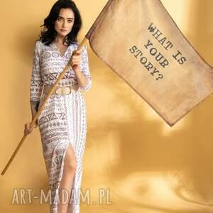 asymetryczna sukienka maxi dzianina premium, maxi, boho, elegancki, kopertowa