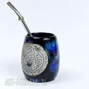 hand made ceramika ceramiczne naczynie do yerba mate / duże matero handmade - aztec