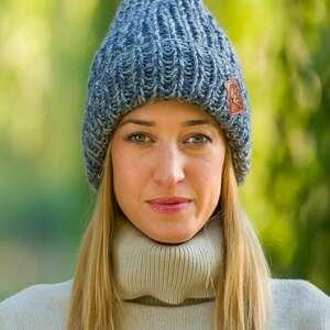 hand-made czapki lucky stylowy szary