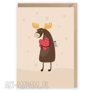 Kartka okolicznościowa - miłoś walentynkowa kartki cardie