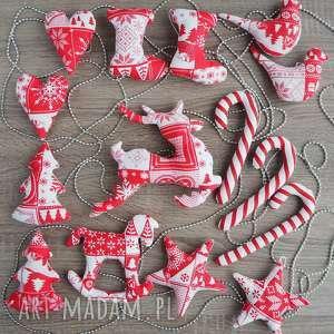 ozdoby świąteczne zestaw 15 sztuk kuferek malucha - święta